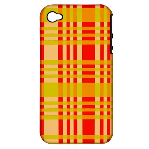 Check Pattern Apple iPhone 4/4S Hardshell Case (PC+Silicone)