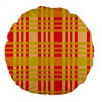 Check Pattern Large 18  Premium Round Cushions Front