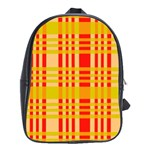 Check Pattern School Bags (XL)  Front