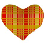 Check Pattern Large 19  Premium Heart Shape Cushions Front