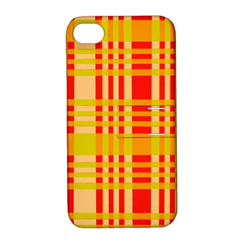Check Pattern Apple iPhone 4/4S Hardshell Case with Stand
