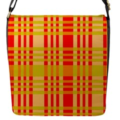 Check Pattern Flap Messenger Bag (S)