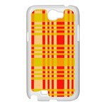 Check Pattern Samsung Galaxy Note 2 Case (White) Front