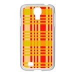 Check Pattern Samsung GALAXY S4 I9500/ I9505 Case (White) Front