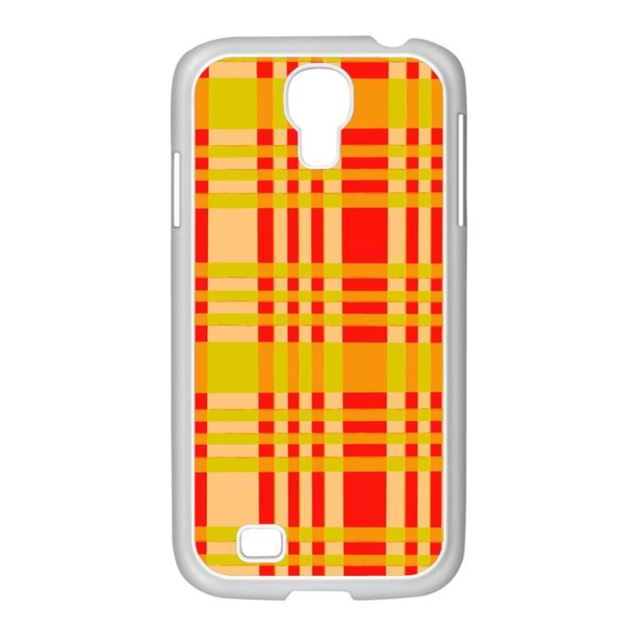 Check Pattern Samsung GALAXY S4 I9500/ I9505 Case (White)