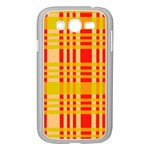 Check Pattern Samsung Galaxy Grand DUOS I9082 Case (White) Front