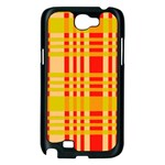 Check Pattern Samsung Galaxy Note 2 Case (Black) Front