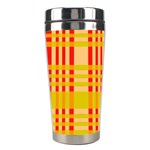 Check Pattern Stainless Steel Travel Tumblers Left
