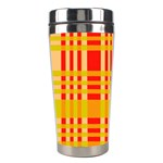 Check Pattern Stainless Steel Travel Tumblers Center