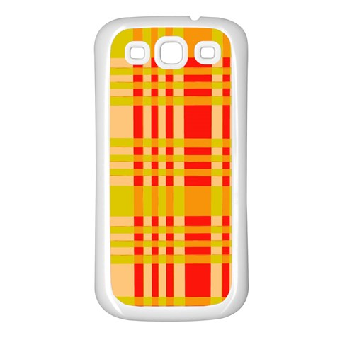 Check Pattern Samsung Galaxy S3 Back Case (White)