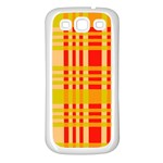 Check Pattern Samsung Galaxy S3 Back Case (White) Front