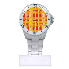 Check Pattern Plastic Nurses Watch