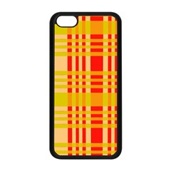 Check Pattern Apple iPhone 5C Seamless Case (Black)