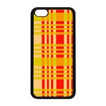 Check Pattern Apple iPhone 5C Seamless Case (Black) Front