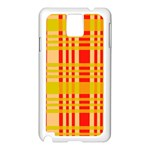 Check Pattern Samsung Galaxy Note 3 N9005 Case (White) Front
