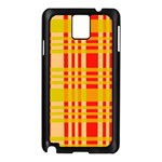 Check Pattern Samsung Galaxy Note 3 N9005 Case (Black) Front