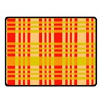 Check Pattern Double Sided Fleece Blanket (Small)  50 x40 Blanket Front