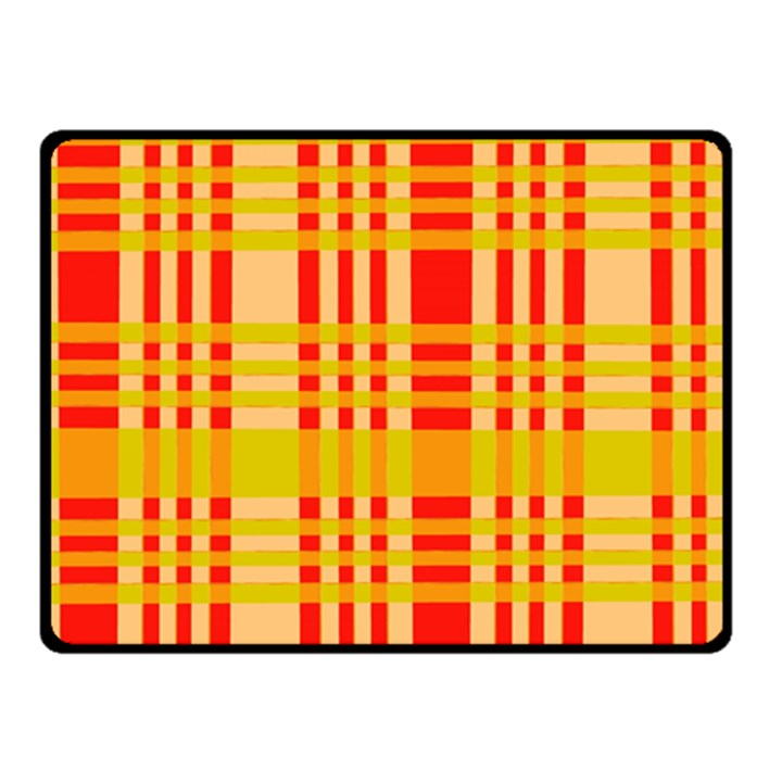 Check Pattern Double Sided Fleece Blanket (Small)