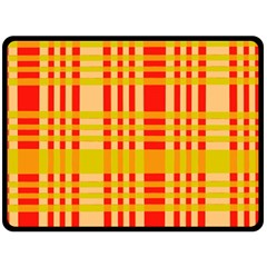 Check Pattern Double Sided Fleece Blanket (Large)