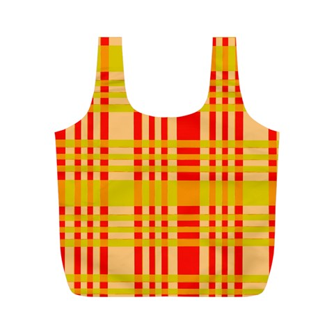 Check Pattern Full Print Recycle Bags (M)