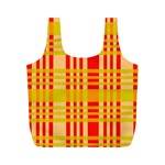 Check Pattern Full Print Recycle Bags (M)  Front