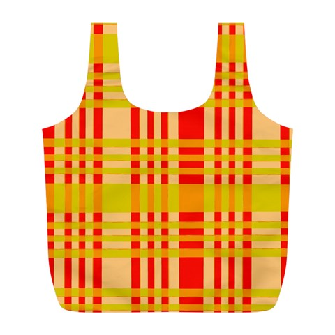 Check Pattern Full Print Recycle Bags (L)