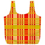 Check Pattern Full Print Recycle Bags (L)  Front