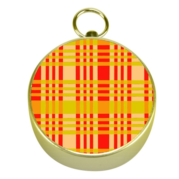 Check Pattern Gold Compasses
