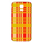 Check Pattern Samsung Galaxy S5 Back Case (White) Front