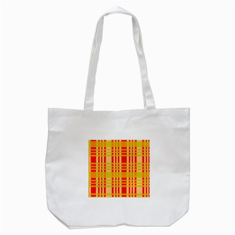 Check Pattern Tote Bag (White)