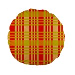 Check Pattern Standard 15  Premium Flano Round Cushions Front