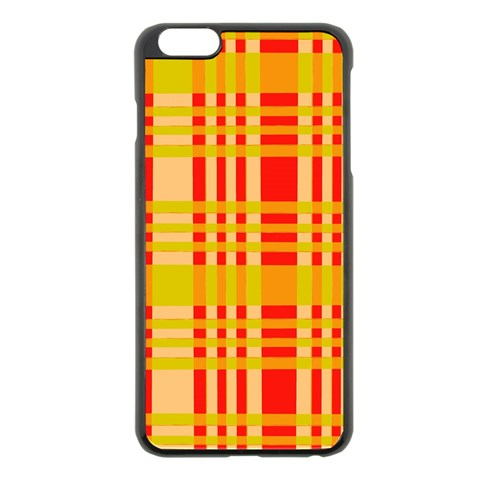 Check Pattern Apple iPhone 6 Plus/6S Plus Black Enamel Case
