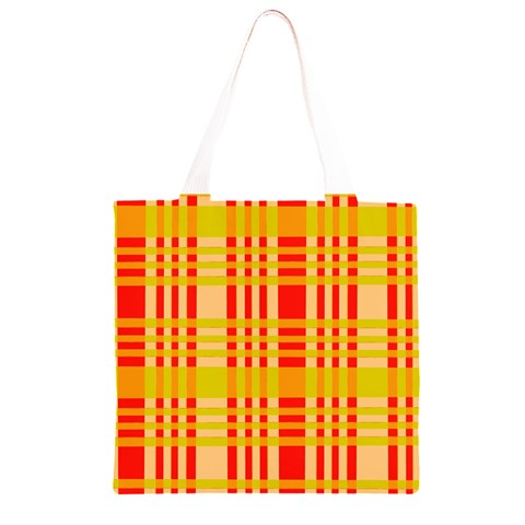 Check Pattern Grocery Light Tote Bag