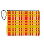 Check Pattern Canvas Cosmetic Bag (XL) Front