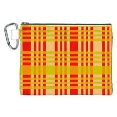 Check Pattern Canvas Cosmetic Bag (XXL)