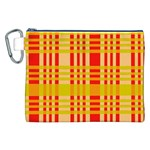 Check Pattern Canvas Cosmetic Bag (XXL) Front