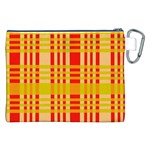 Check Pattern Canvas Cosmetic Bag (XXL) Back