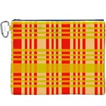 Check Pattern Canvas Cosmetic Bag (XXXL) Front
