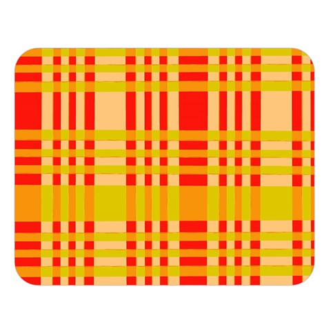 Check Pattern Double Sided Flano Blanket (Large)