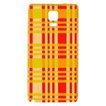 Check Pattern Galaxy Note 4 Back Case Front