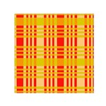 Check Pattern Small Satin Scarf (Square) Front