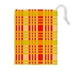 Check Pattern Drawstring Pouches (Extra Large) Front