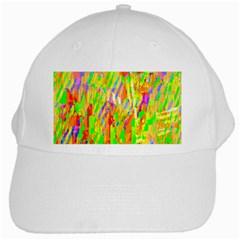 Cheerful Phantasmagoric Pattern White Cap