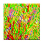 Cheerful Phantasmagoric Pattern Tile Coasters Front