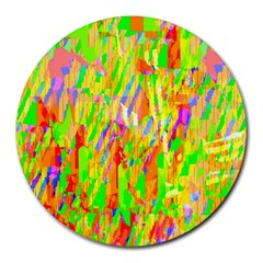 Cheerful Phantasmagoric Pattern Round Mousepads