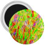 Cheerful Phantasmagoric Pattern 3  Magnets Front