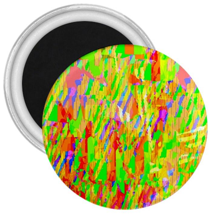 Cheerful Phantasmagoric Pattern 3  Magnets