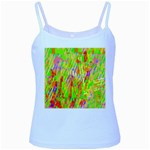 Cheerful Phantasmagoric Pattern Baby Blue Spaghetti Tank Front