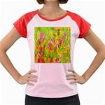 Cheerful Phantasmagoric Pattern Women s Cap Sleeve T-Shirt Front