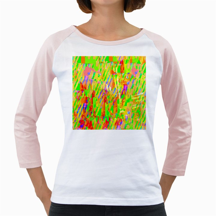 Cheerful Phantasmagoric Pattern Girly Raglans